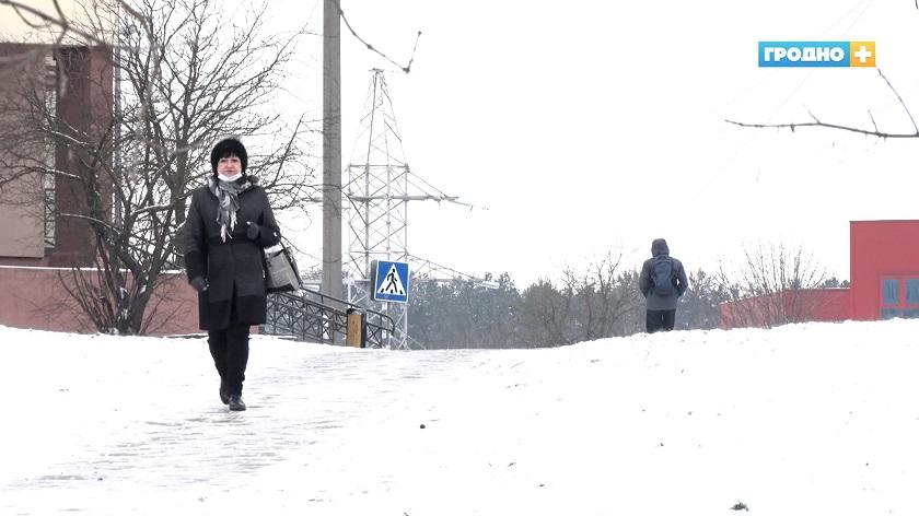 Первые случаи обморожения в Гродно. Один закончился операционным вмешательством